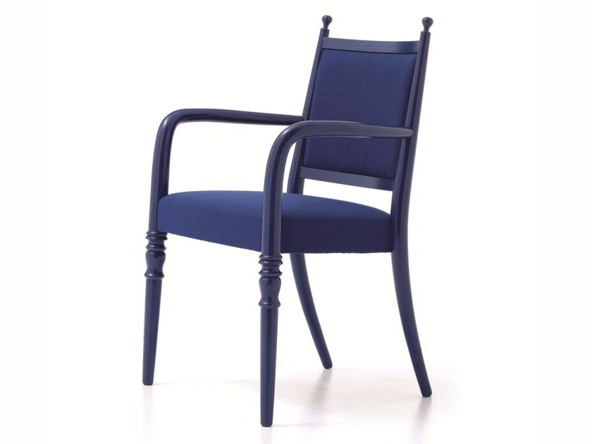 Fabric restaurant chair with armrests CENTURY 02 - Very Wood