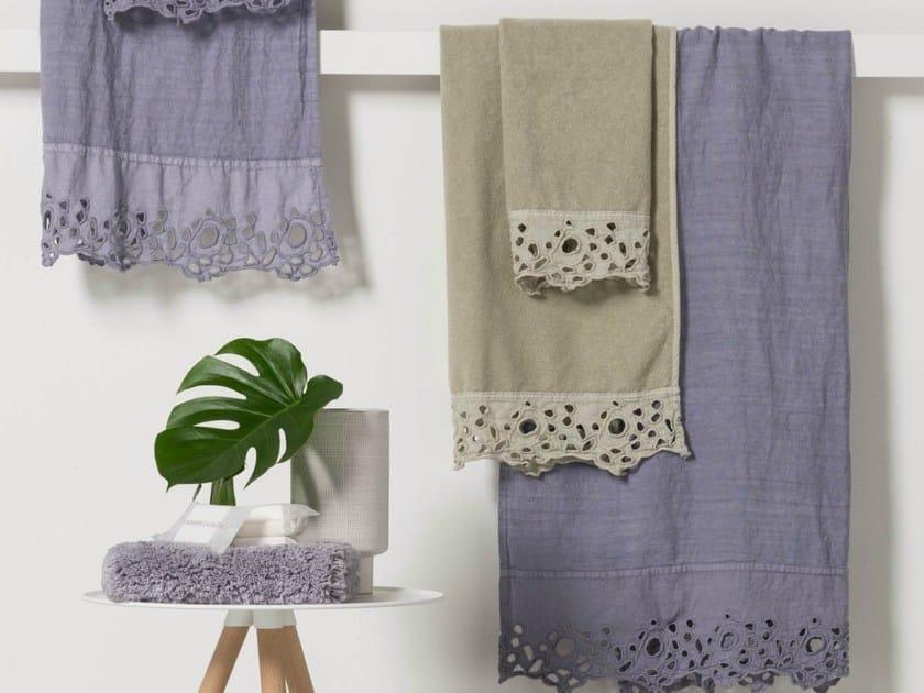 Linen bath Towel CERCHI | Bath Towel - LA FABBRICA DEL LINO by Bergianti & Pagliani