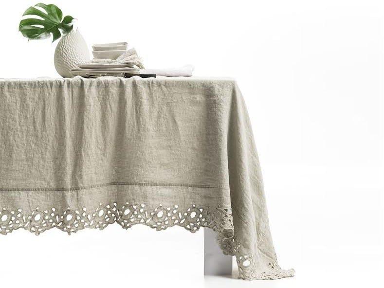 Linen tablecloth CERCHI | Tablecloth - LA FABBRICA DEL LINO by Bergianti & Pagliani