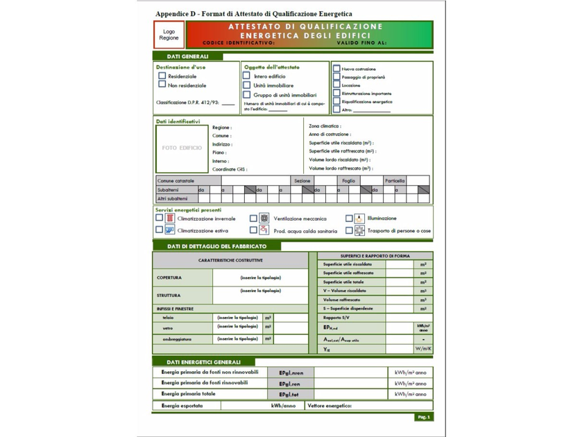 Energy certification CERTIFICAZIONE ENERGETICA by ATH ITALIA software