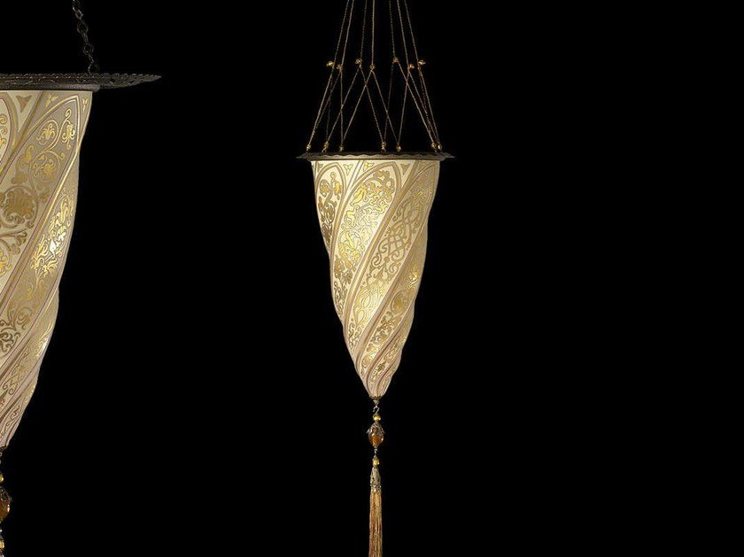 Glass pendant lamp CESENDELLO CEILING | Glass pendant lamp - Fortuny® by Venetia Studium