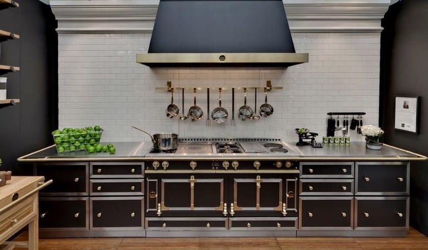 cucina a libera installazione in acciaio inox ch teau 120 la cornue. Black Bedroom Furniture Sets. Home Design Ideas