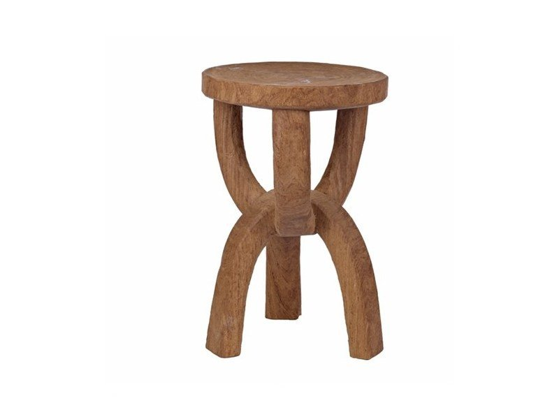 Round wooden side table CHAIN - Pols Potten