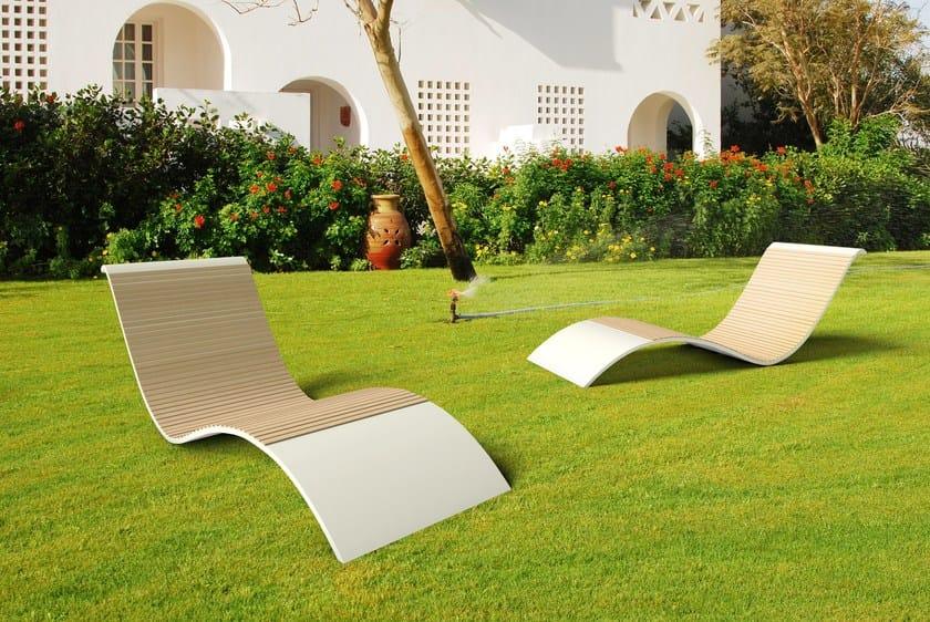 Chaise longue in Solid Surface® GODIVA BASSA by Zuri Design