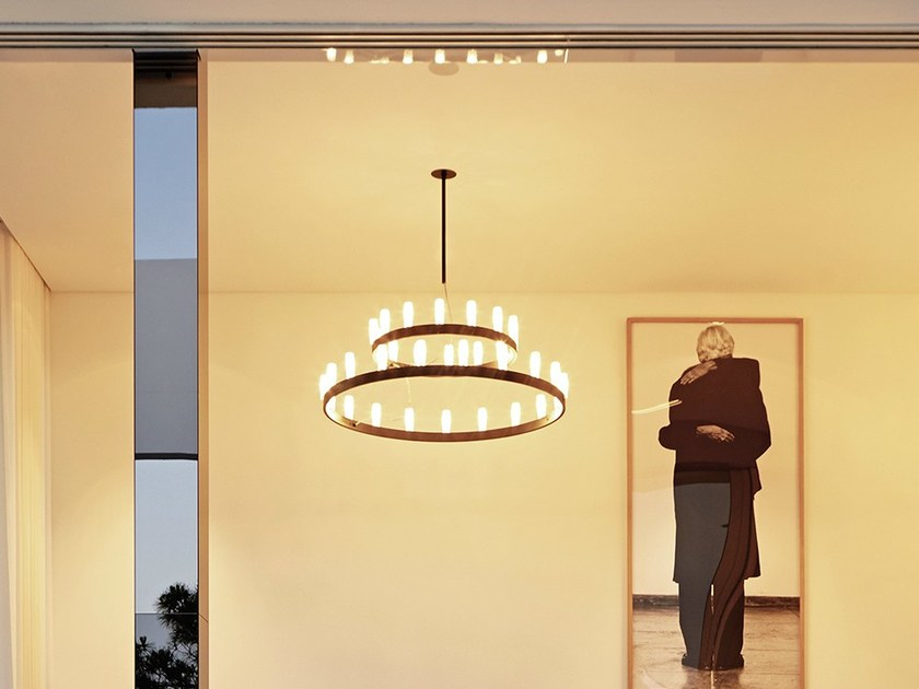 Metal pendant lamp CHANDELIER DOUBLE - FontanaArte
