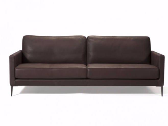 4 seater leather sofa CHANTACO - Canapés Duvivier