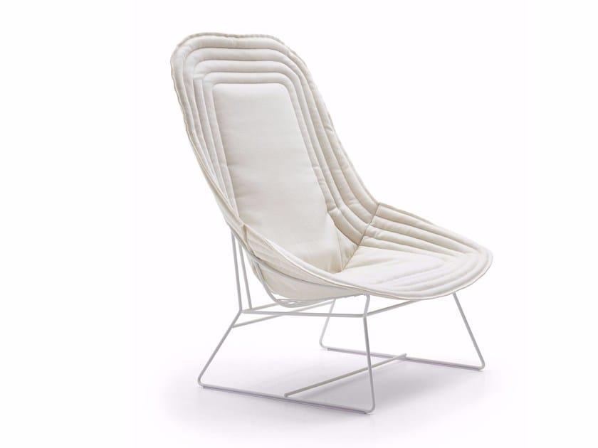 Bergere fabric armchair CHAPEAU | Bergere armchair - Varaschin