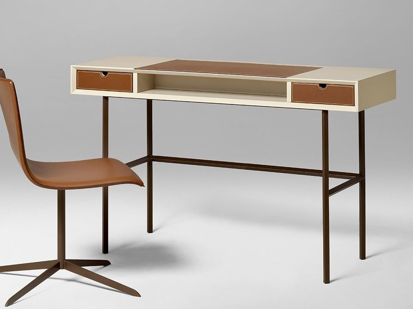 Rectangular wooden writing desk with drawers CHAPEAU | Writing desk with drawers by ALIVAR