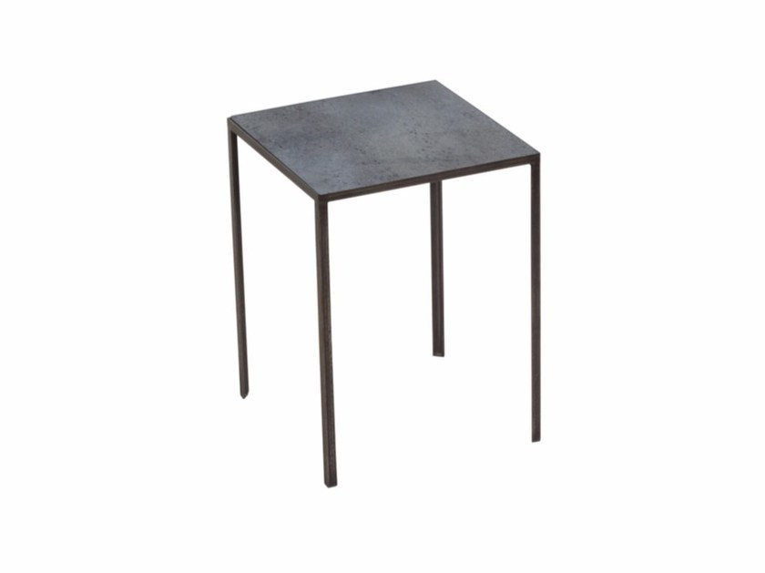 Square side table CHARCOAL PATCHWORK SIDE TABLE - Notre Monde