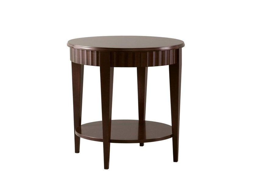 Round cherry wood coffee table CHARLES - SELVA