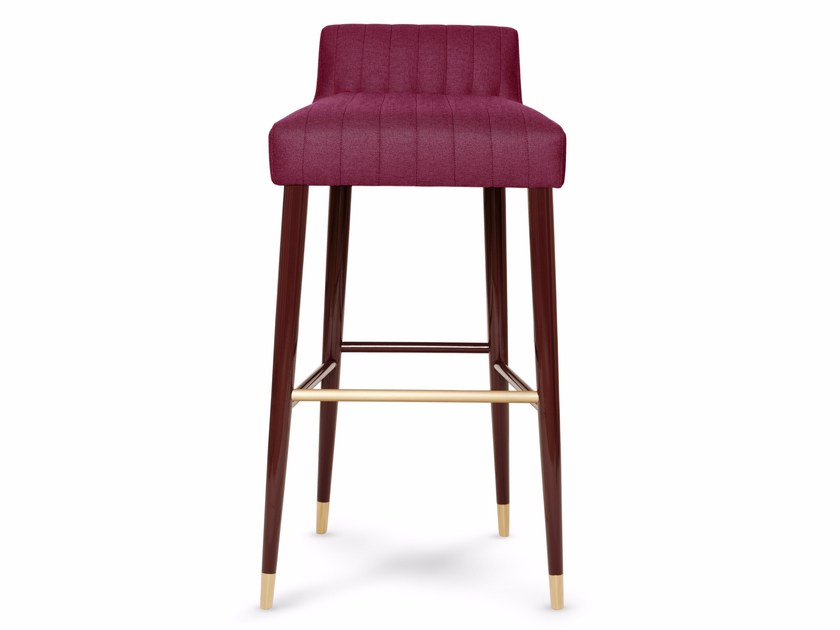 High fabric barstool with footrest CHARLOTTE by Munna