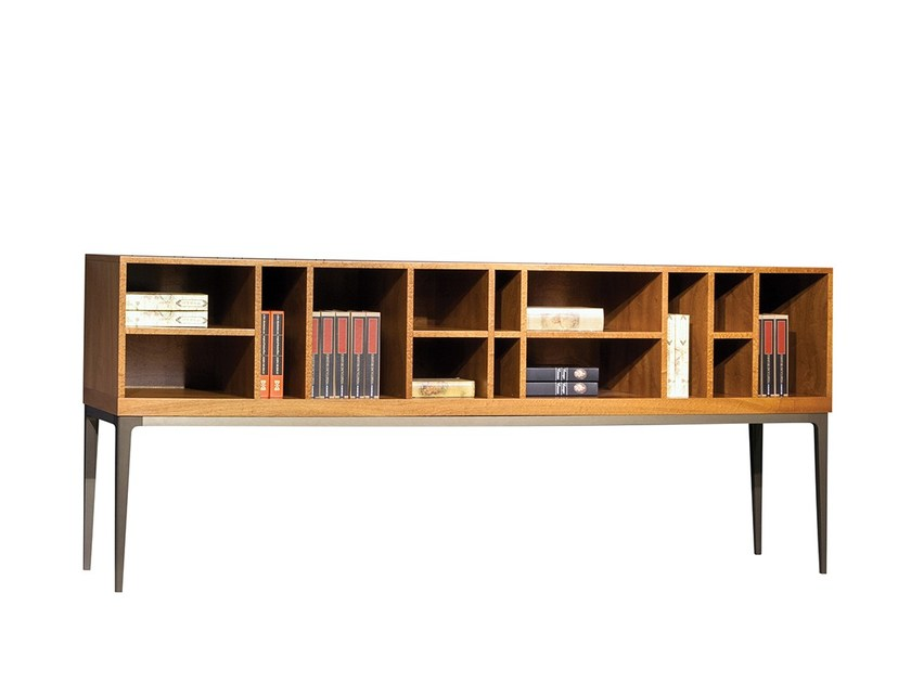 Wooden sideboard CHARM | Open bookcase - Mobi