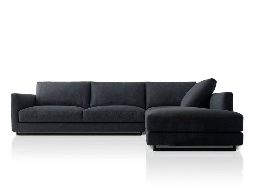 Corner fabric sofa with chaise longue CHARME | Sofa with chaise longue - PIANCA
