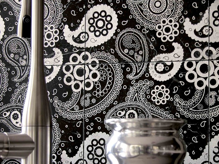Marble wall tiles CHARME - PAISLEY by Lithos Mosaico Italia