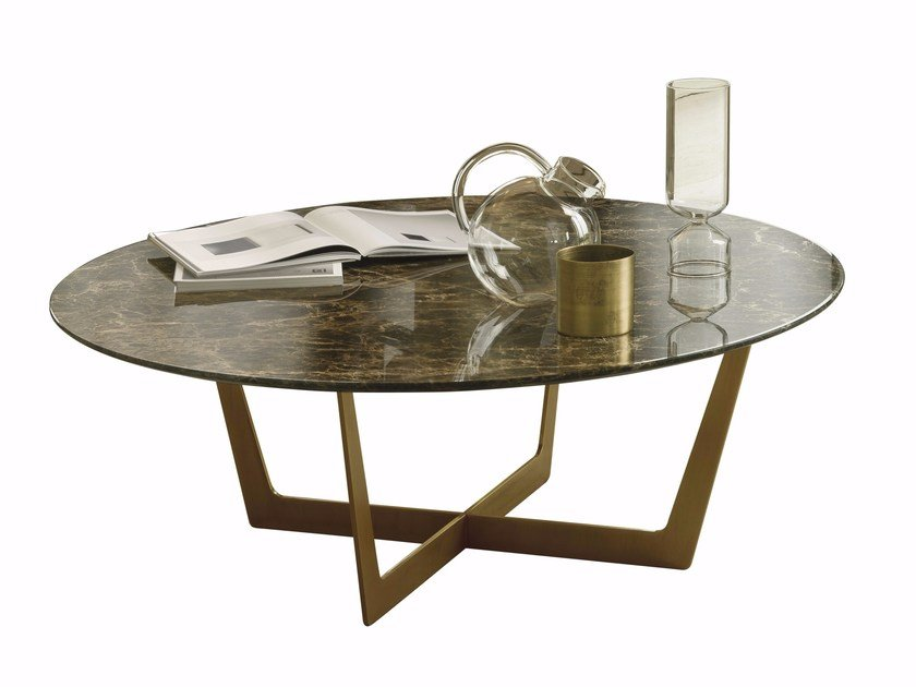 Marble coffee table for living room CHARME | Round coffee table by CTS SALOTTI
