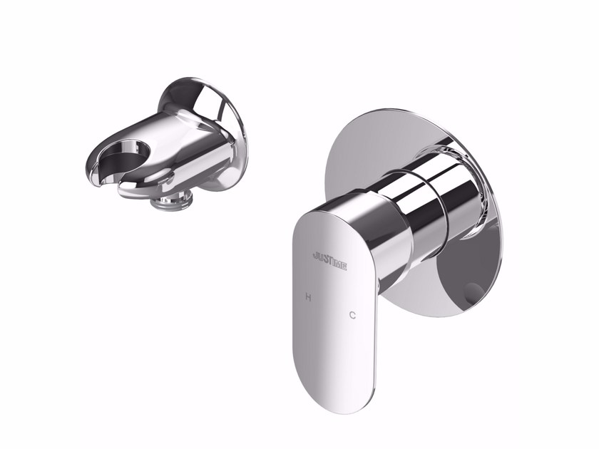 Single handle chromed brass shower mixer CHARMING PLUS | Shower mixer - JUSTIME