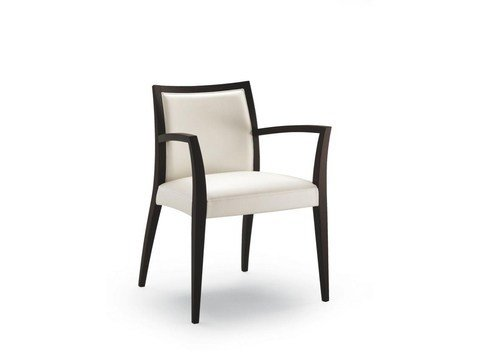Fabric chair with armrests CHAS | Chair with armrests - CIZETA