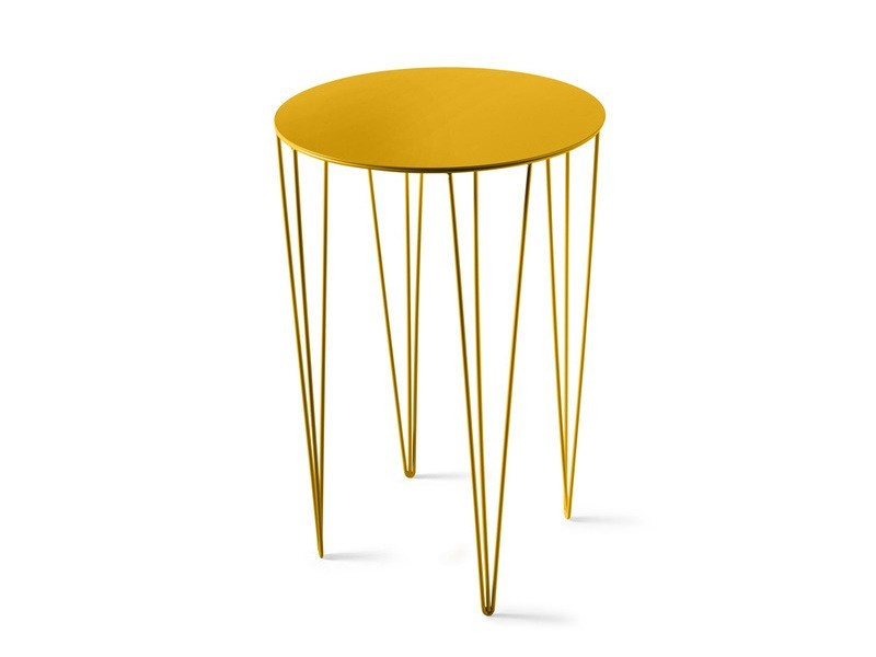 Lacquered round high side table CHELE ROUNDED | High side table by Atipico