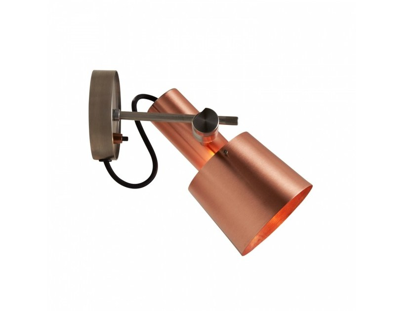 Adjustable copper wall lamp with dimmer CHESTER | Wall lamp - Original BTC