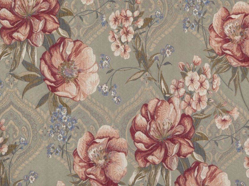Synthetic fibre fabric with floral pattern CHIARA by Gancedo
