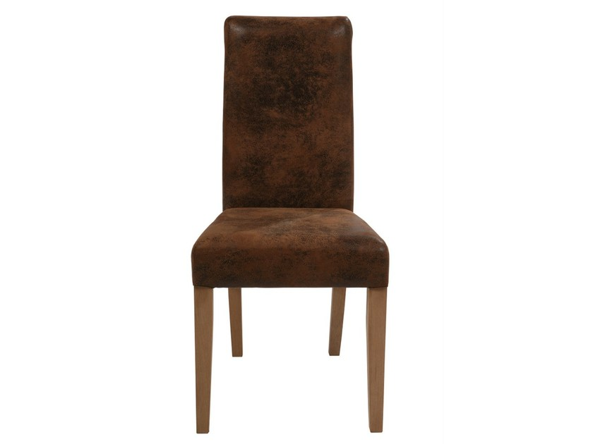Upholstered fabric chair CHIARA TEAK/VINTAGE - KARE-DESIGN
