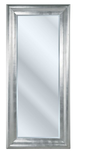 Rectangular wall-mounted framed mirror CHIC SILVER - KARE-DESIGN