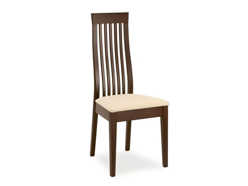 High-back wooden chair CHICAGO - Calligaris