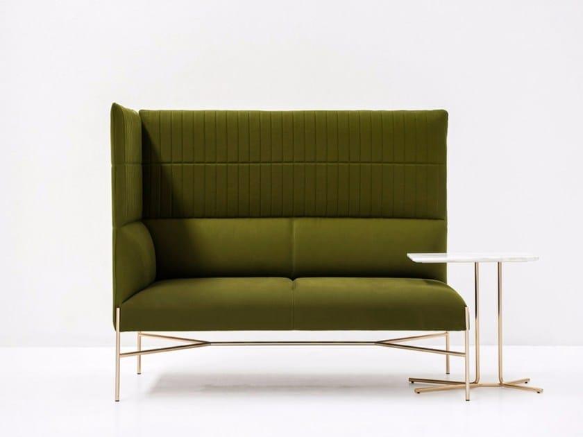 Corner sectional high-back fabric sofa CHILL-OUT HIGH | Corner sofa - Tacchini Italia Forniture