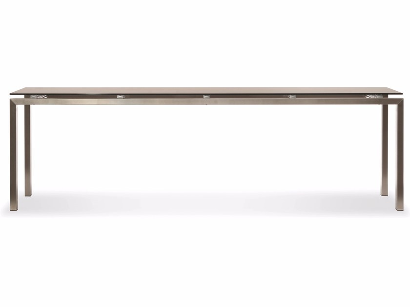 Rectangular dining table CHROMINOX | Table by Joli
