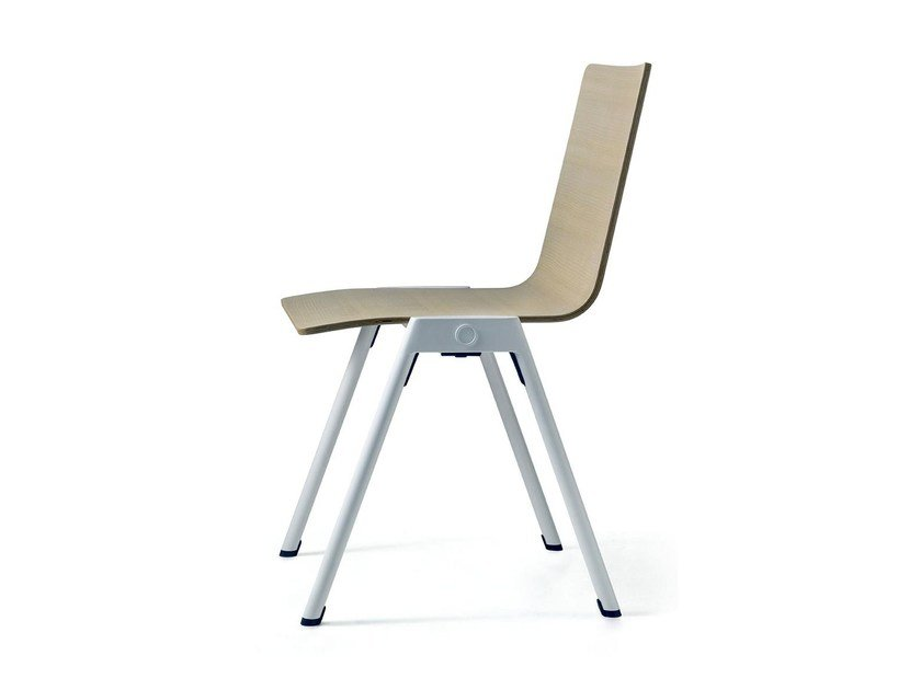 Stackable reception chair CHROMIS by arrmet