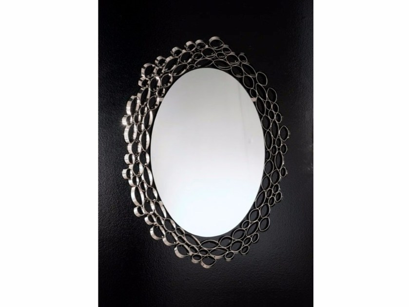 Oval wall-mounted framed mirror CHRYSALIS | Mirror by IDL EXPORT