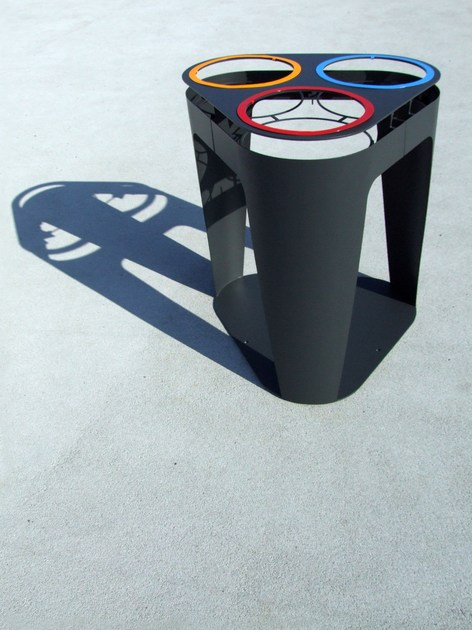Outdoor waste bin for waste sorting CHURCHILL by LAB23 Gibillero Design