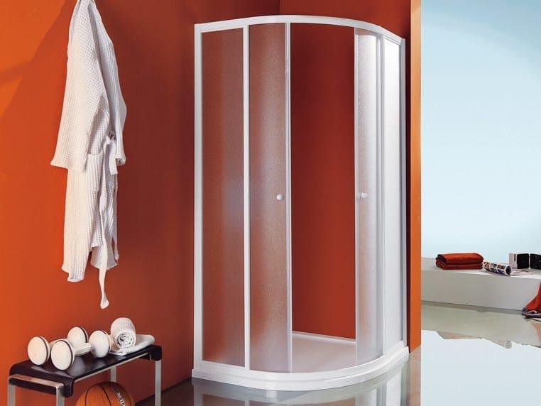 Corner semicircular shower cabin with tray CIAO | Semicircular shower cabin by Samo