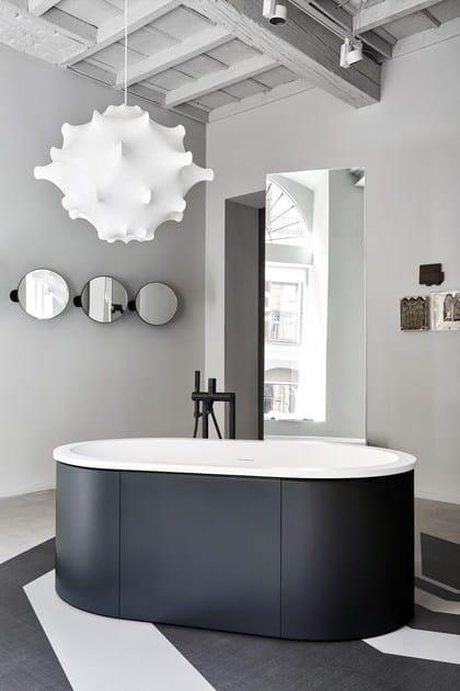 Vasca da bagno centro stanza in livingtec cibele ceramica cielo - Vasca da bagno ceramica ...
