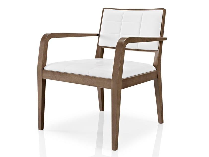 Leather chair with armrests CIBELLE | Chair with armrests - J. MOREIRA DA SILVA & FILHOS, SA