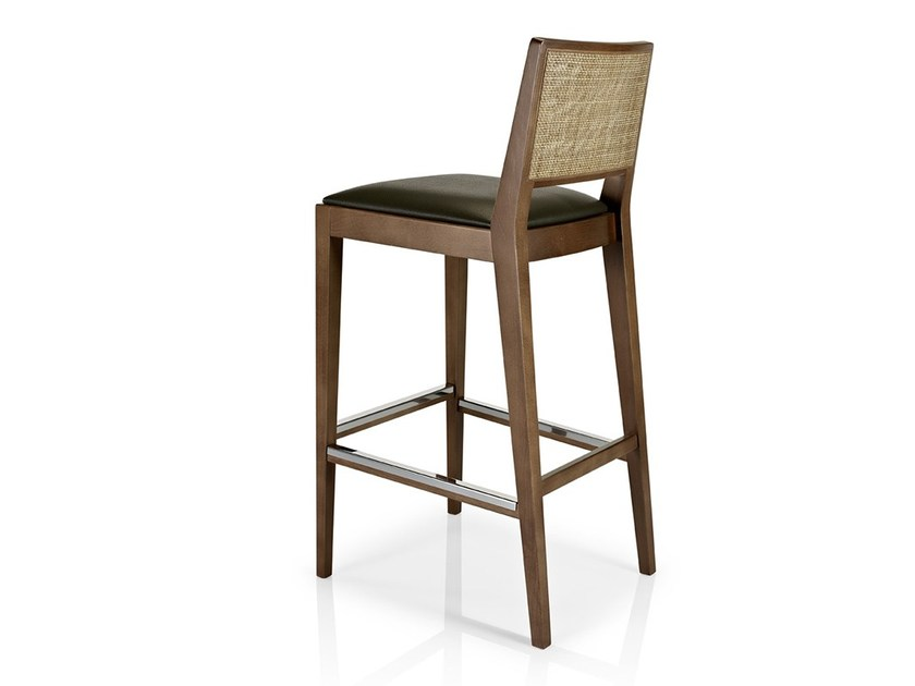 Leather counter stool with footrest CIBELLE | Chair with footrest - J. MOREIRA DA SILVA & FILHOS, SA