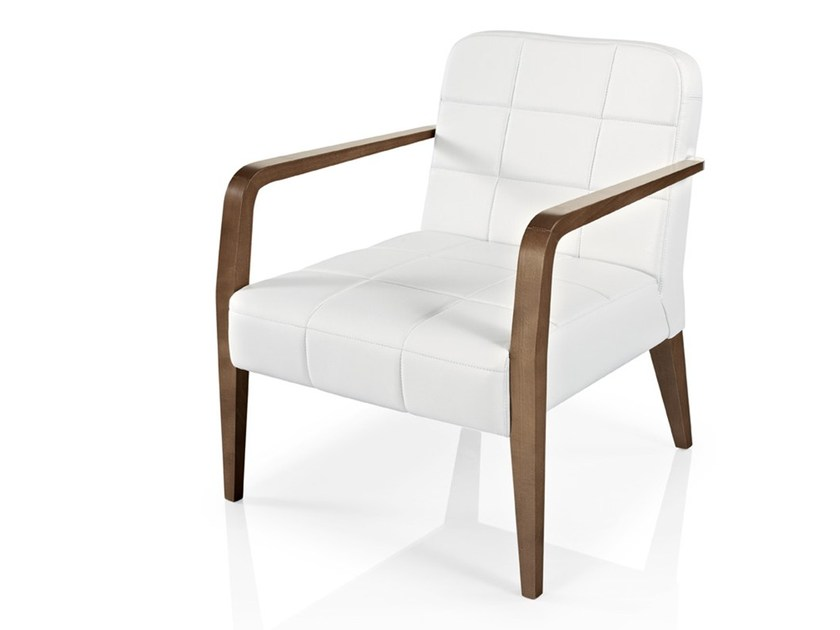 Leather easy chair with armrests CIBELLE | Easy chair with armrests - J. MOREIRA DA SILVA & FILHOS, SA