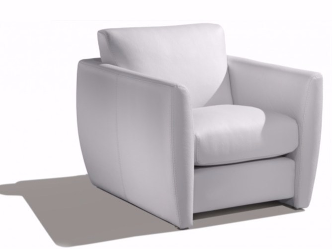 Leather armchair with armrests CIBOURE | Armchair - Canapés Duvivier