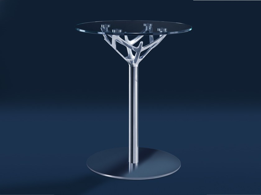 Round glass coffee table CICERONE | Glass coffee table - Caimi Brevetti
