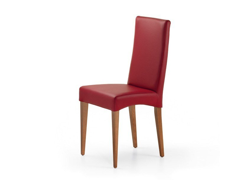 Upholstered leather chair CINDY - Cattelan Italia