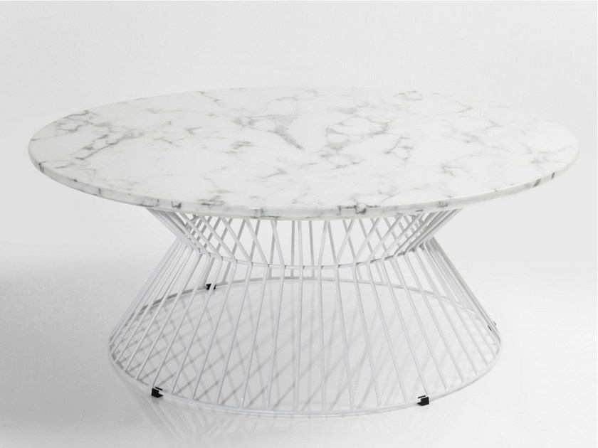 Round marble coffee table CINTURA | Coffee table - KARE-DESIGN