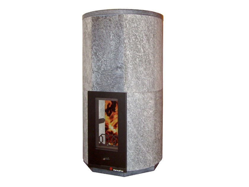 Wood-burning natural stone stove CIR2 | Natural stone stove - KarniaFire