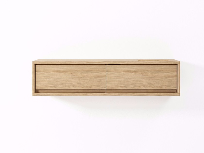 Suspended wooden sideboard with drawers CIRCA17 | Sideboard with drawers by KARPENTER