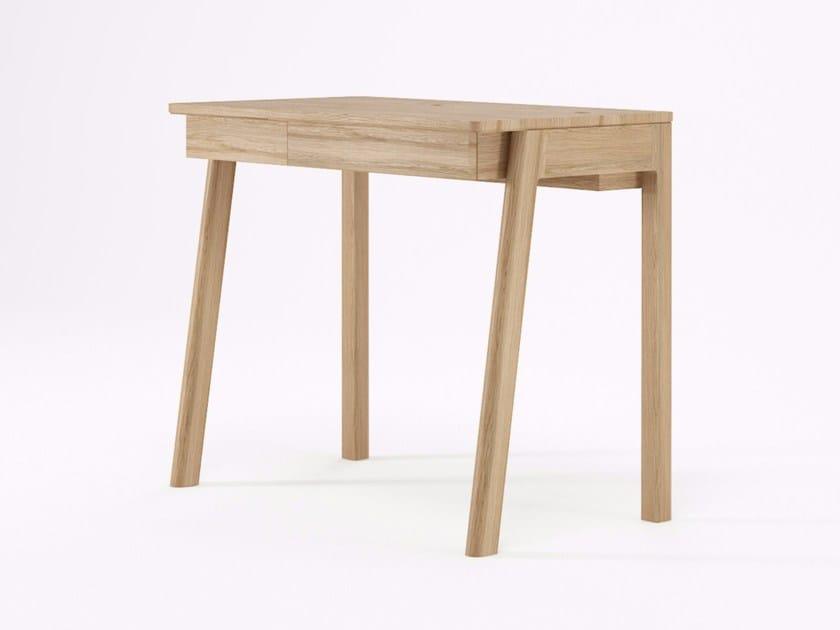 Rectangular wooden writing desk with drawers CIRCA17 | Writing desk by KARPENTER