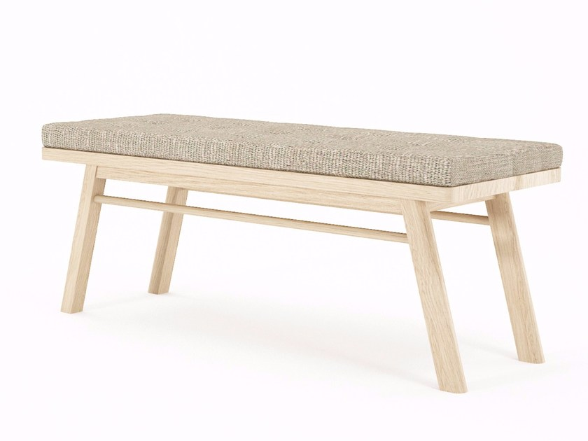 Upholstered wooden and fabric bench CIRCA17 | Bench by KARPENTER
