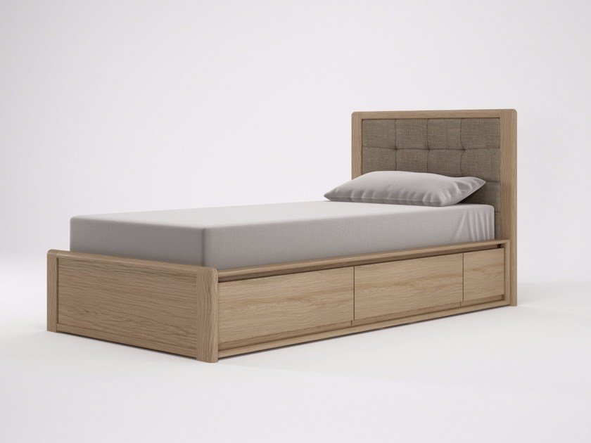 Wooden single bed CIRCA17 | Single bed by KARPENTER
