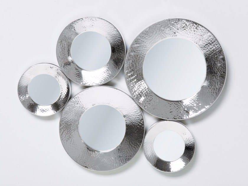 Wall-mounted mirror CIRCOLI CINQUE SILVER - KARE-DESIGN