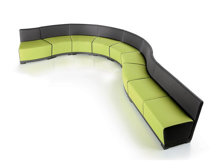 Round bench with back CIRCUIT   Modular bench - D.M.