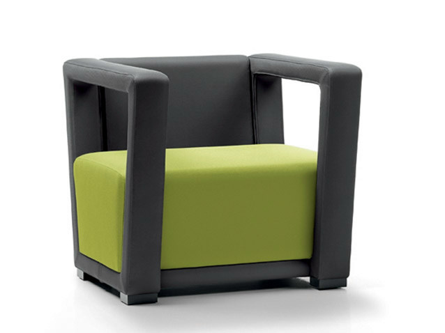Sectional armchair with armrests CIRCUIT | Armchair by D.M.