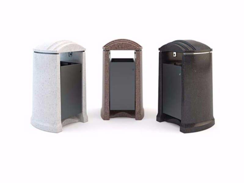Waste bin with lid CITTÀ | Waste bin with lid - Bellitalia